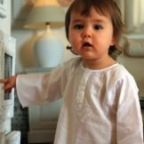 Tunique bébé garçon blanche