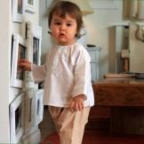 tunique blanche bébé