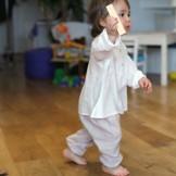 pantalon bébé fille beige
