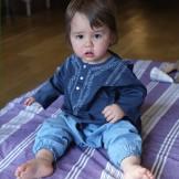 Sarouel bébé garçon bleu