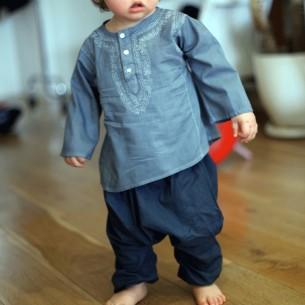 pantalon bébé fille vert