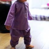 pantalon bébé fille violet