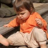 Sarouel bébé fille beige