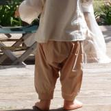Sarouel beige bébé voile de coton