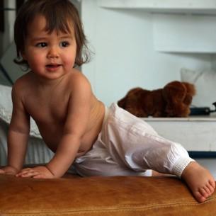 Sarouel bébé fille blanc