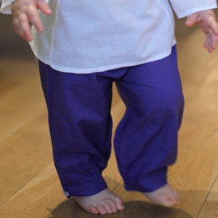 Pantalon bébé coton bleu foncé