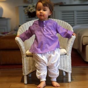 Tunique bébé fille violette