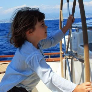 Kids Summer kaftan light blue