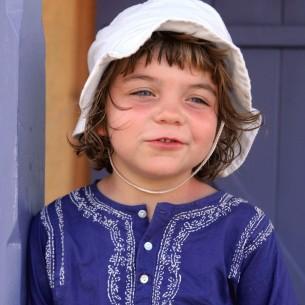 Tunique fille bleu foncé