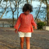 Tunique garçon enfant corail