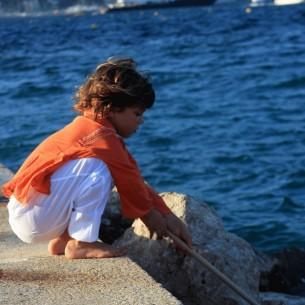 Kids Summer kaftan orange
