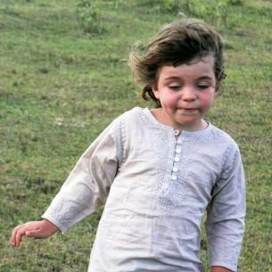 tunique beige enfant