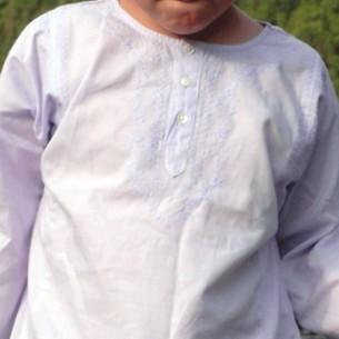 children cotton kaftan lavander