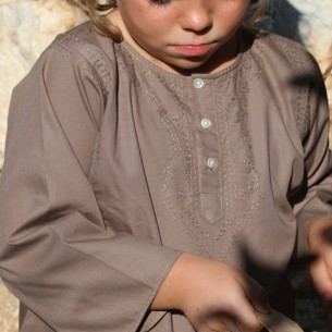 children cotton kaftan brown