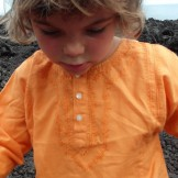 Tunique brodée orange