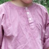 Tunique coton enfant rose