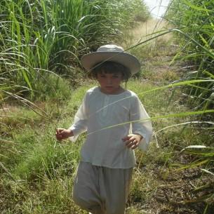 Tunique enfant creme