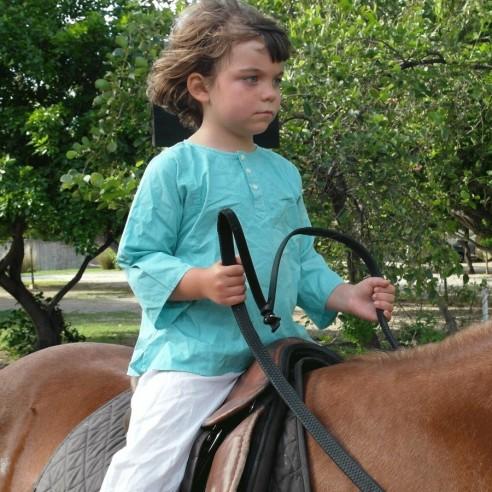 Tunique enfant vert turquoise