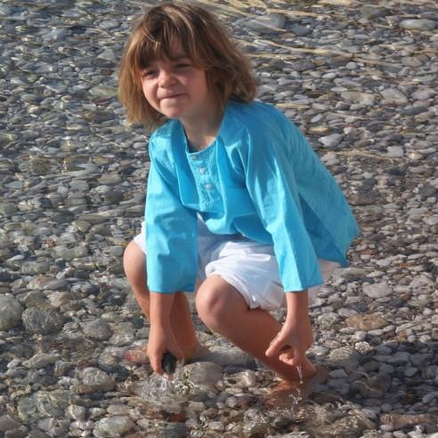 Tunique enfant turquoise