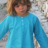 Tunique brodée turquoise