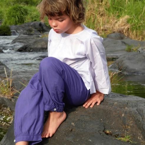Kids cotton trouser dark blue