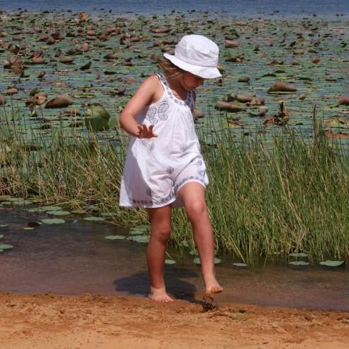 Short summer dress - WHITE KAFTANS - Tortue de Mer