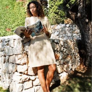 Tunique femme beige