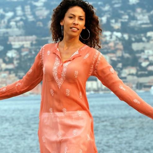 Tunique en crêpe de soie - TUNIQUES FEMME - Tortue de Mer
