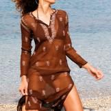 Tunique soie marron
