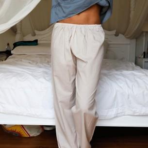 Pantalon en voile de coton - SAROUELS ET PANTALONS FEMME - Tortue de Mer