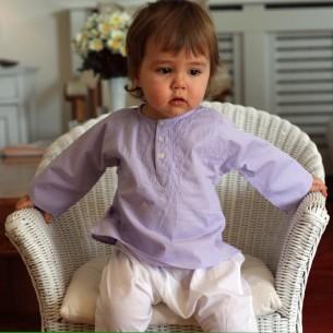 Baby lavander cotton kaftan