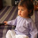 Tunique bébé garçon lavande