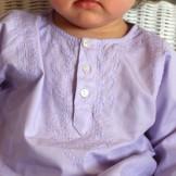 Tunique bébé coton mi-saison lavande