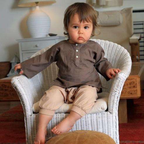 Tunique bébé fille marron