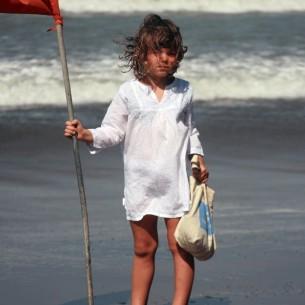 Tunique enfant plage blanche
