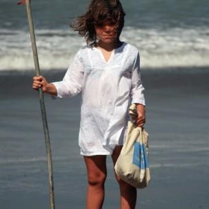 White beach kaftan