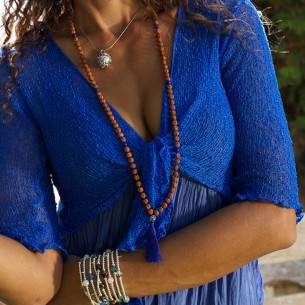 Boléro femme bleu