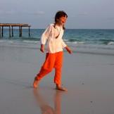 Sarouel enfant orange