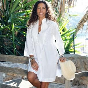 women white kaftan dress