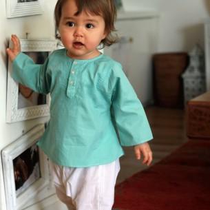 Tunique bébé garçon vert turquoise