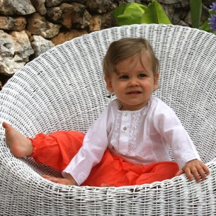 Sarouel bébé garçon orange