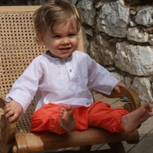 pantalon bébé fille orange