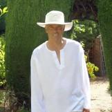 Tunique blanche homme