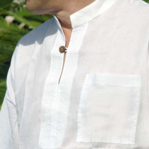 Mao collar men shirt