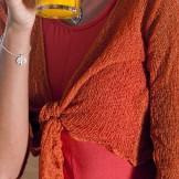 Boléro femme orange