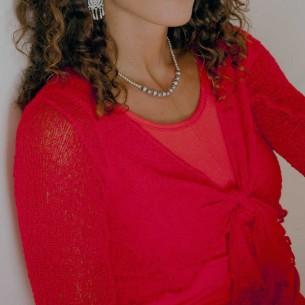 Boléro femme robe rouge