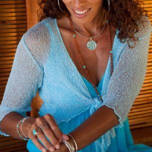 Boléro femme turquoise clair