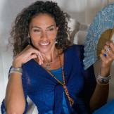 Boléro femme bleu foncé