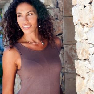Robe longue sport femme marron glacé
