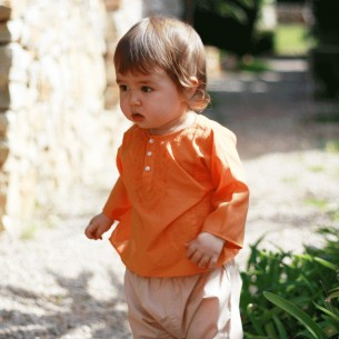 Tunique bébé fille orange